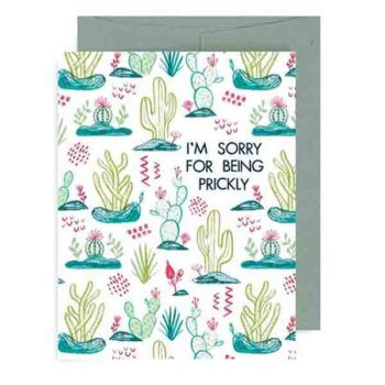I'm Sorry For Being Prickly – Card
