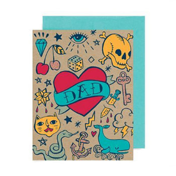 Dad Tattooed Heart – Card