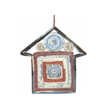 Recycled Paper House Ornament