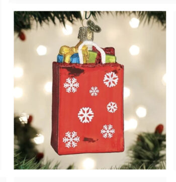 Holiday Shopping Bag Ornament