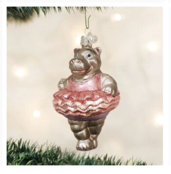 Twinkle Toes Hippo Ballerina Ornament